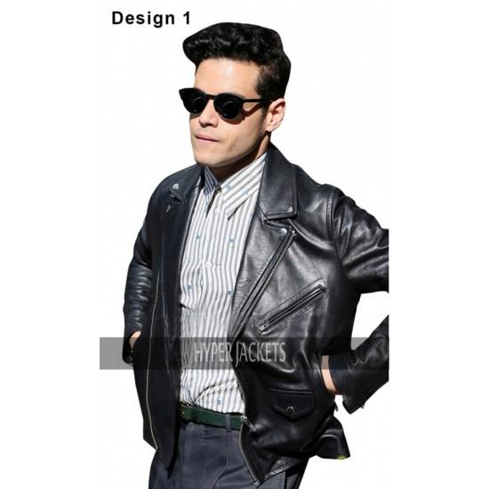 Bohemian Rhapsody Freddie Mercury Black Biker Leather Jacket