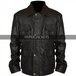 Tom Hardy Dark Knight Rises Bane Black Leather Jacket