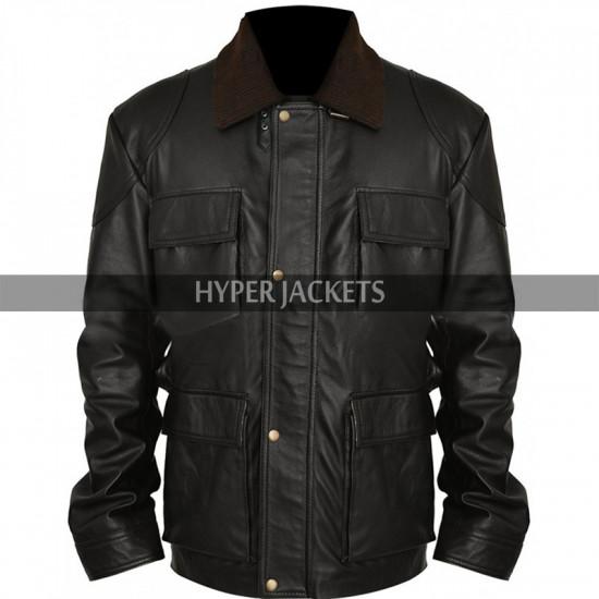 Tom Hardy Dark Knight Rises Bane Black Leather Jacket