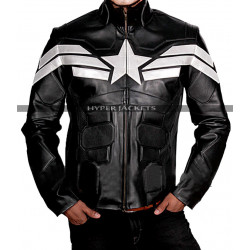 Steve Rogers Captain America Winter Soldier Costume Leather Jacket