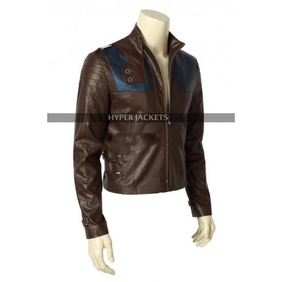 Krypton Superman Seg-El Brown Leather Biker Jacket