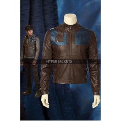 Krypton Superman Seg-El Brown Leather Biker Jacket