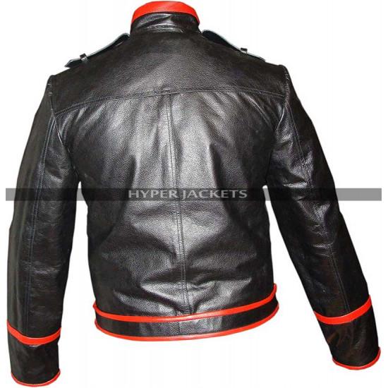 Freddie Mercury Wembley Concert Red And Black  Leather Jacket