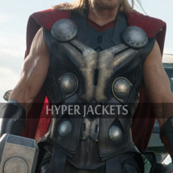 Thor Avengers Age of Ultron Chris Hemsworth Costume Black Leather Vest