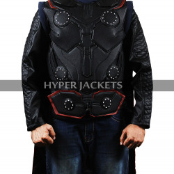 Thor Avengers Endgame Chris Hemsworth Leather Cosplay Vest Jacket