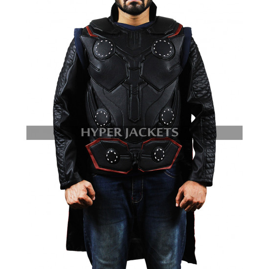 Thor Avengers Infinity War Chris Hemsworth Leather Costume Vest Jacket