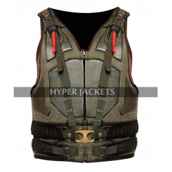 Tom Hardy Dark Knight Rises Bane Costume Green Leather Vest