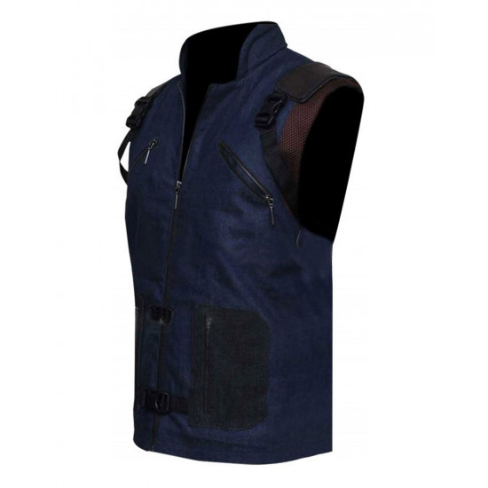 Guardians of Galaxy Vol 2 Rocket Raccoon Costume Blue Denim Vest