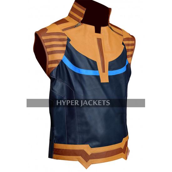 Thanos Avengers Infinity War Josh Brolin Costume Leather Vest
