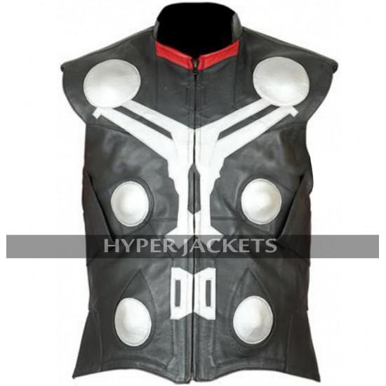 Thor Avengers Age of Ultron Chris Hemsworth Costume Black Leather Vest