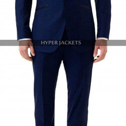 James Bond Skyfall Tuxedo Midnight Blue 2 Piece Suit