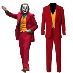 Joker Movie Joaquin Phoenix Red Costume Cosplay Suit