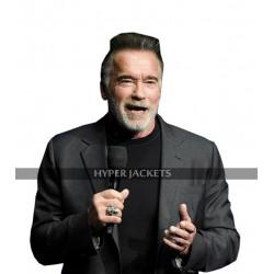 Terminator Dark Fate Arnold Schwarzenegger Grey Cotton Coat