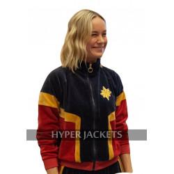 Captain Marvel Brie Larson (Carol Danvers) Tracksuit Fleece Costume Jacket