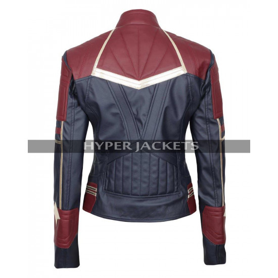 Brie Larson Captain Marvel Movie Costume Leather Jacket