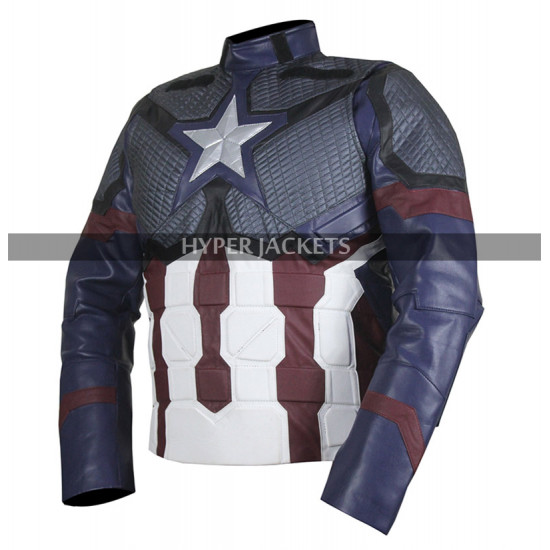 Captain America Endgame Steve Rogers Cosplay Leather Jacket