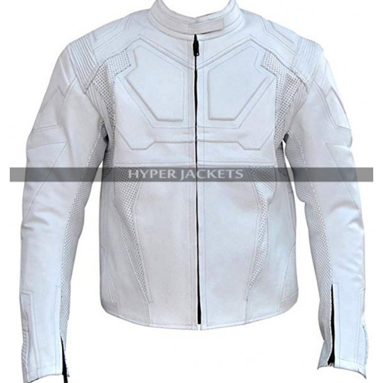 Oblivion Jack Black & White Leather Jacket