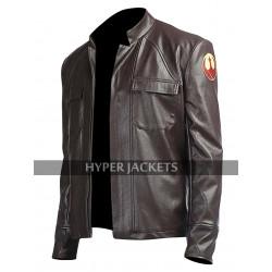 Poe Dameron Star Wars The Last Jedi Oscar Isaac Brown Leather Jacket