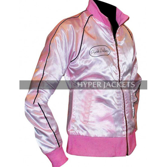 Grease 2 Michelle Pfeiffer Pink Ladies Stephanie Reversible Bomber Satin Jacket