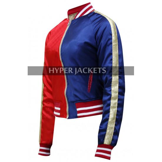 Harley Quinn Suicide Squad Margot Robbie Property of Joker Bomber Satin Jacket