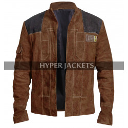 Han Solo A Star Wars Story Alden Ehrenreich Brown Suede Leather Jacket