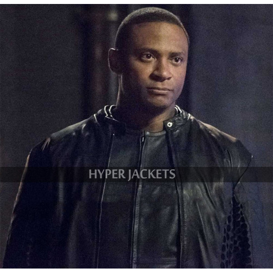 John Diggle Arrow David Ramsey Black Leather Costume