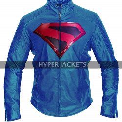 Arrowverse Crisis On Infinite Earths Brandon Routh Superman Costume Biker Leather Jacket