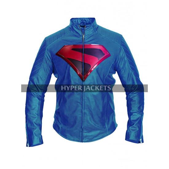 Arrowverse Crisis On Infinite Earths Brandon Routh Superman Costume Biker Leather Jacket