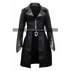 Caitlin Snow Flash Season 3 Killer Frost Black Leather Cosplay Coat