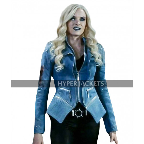 Flash Season 4 Danielle Panabaker Killer Frost Blue Denim Costume Jacket
