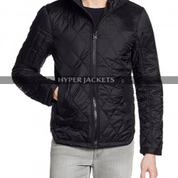 Ozark Marty Byrde Quilted Satin Hooded Jacket