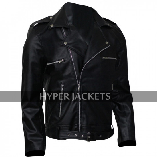 Negan The Walking Dead Jeffrey Dean Morgan Black Leather Jacket