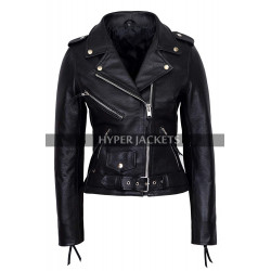 Pretty Little Liars Emily Fields Moto Biker Leather Jacket