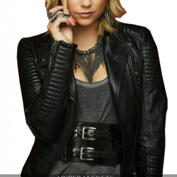 Pretty Little Liars Hanna Marin Black Biker Leather Jacket