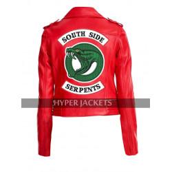 Cheryl Blossom Riverdale Southside Serpents Madelaine Red / Black Leather Jacket