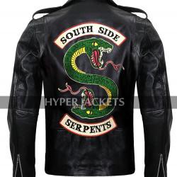 Jughead Jones Riverdale Southside Serpents Cole Sprouse Black Leather Jacket