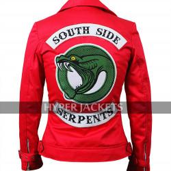 Toni Topaz Riverdale Southside Serpents Vanessa Morgan Black / Red Cotton Jacket