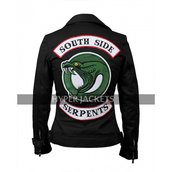 Toni Topaz Riverdale Southside Serpents Vanessa Morgan Black / Red Cotton Jacket