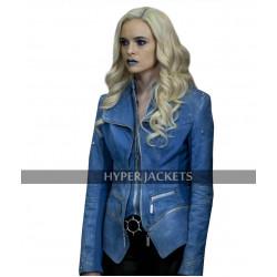 Flash Season 4 Danielle Panabaker Killer Frost Blue Denim Costume Jacket