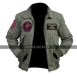 Top Gun Maverick 2020 Tom Cruise MA 1 Flight Pilot Cotton Bomber Jacket