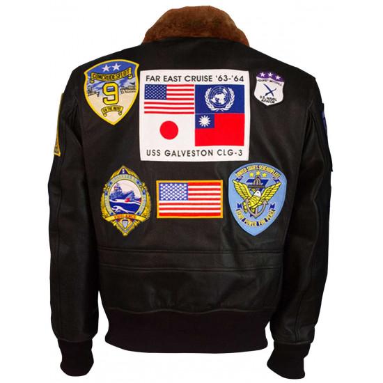 Top Gun Maverick 2020 Tom Cruise Aviator Pilot Leather Jacket