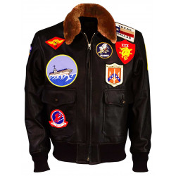 Top Gun Maverick 2020 Tom Cruise Aviator Pilot Leather Jacket