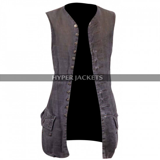 Pirates of Caribbean Jack Sparrow Johnny Depp Cotton Vest