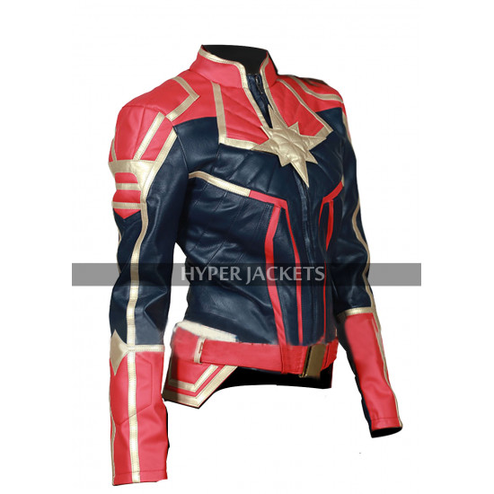 Avengers Endgame Captain Marvel Brie Larson Costume Leather Jacket