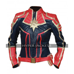 Avengers Endgame Captain Marvel Brie Larson Costume Leather Jacket