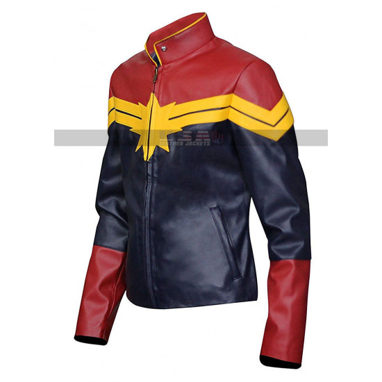 Captain Marvel Brie Larson Costume Leather Jacket