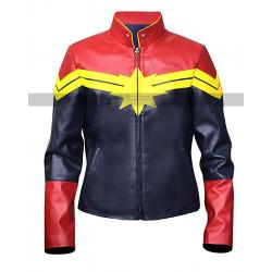 Captain Marvel Brie Larson Costume Leather Jacket