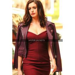 Oceans 8 Daphne Kluger Purple Leather Jacket