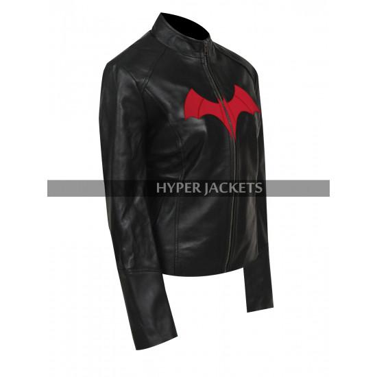 Batwoman Ruby Rose Cosplay Black Biker Leather Jacket