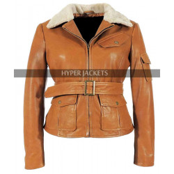 Night at the Museum 2 Amy Adams Aviator Leather Jacket